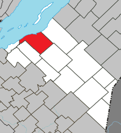 Location within Montmagny RCM.
