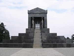 Yugoslavism - Monument to the Unknown Hero at the Avala mountain near Belgrade, a monument for the fallen Yugoslavs in the Balkan Wars and World War I, designed by Yugoslav sculptor Ivan Meštrović.