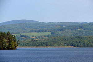 Waterford, Vermont - Waterford seen across Moore Reservoir