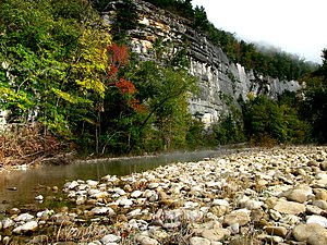 The Buffalo National River, the first National River established in the United States Morning on the Buffalo River.jpg