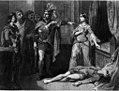 Mort de Lother - De quelle manière se fondent les dynasties (illustration for Les Mysteres du peuple by Eugene Sue) (cropped).jpg