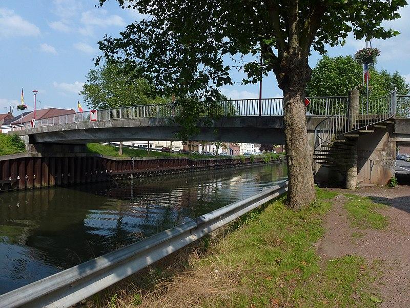 Mortagne-du-Nord (Nord, Fr) Pont de l'Escaut