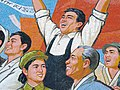 Mosaic Depicting Kim Il Sungs Homecoming, Pyongyang, North Korea (2907645354).jpg