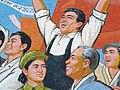 Mosaic Depicting Kim Il Sungs Homecoming, Pyongyang, North Korea (2907645354).jpg