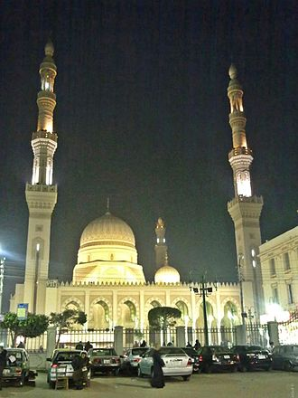 Ahmad Al-Badawi Mosque - Front view of the mosque.