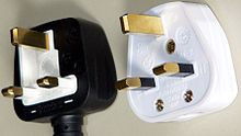 ac power plugs and sockets british and related types left a typical moulded bs 1363 plug showing the fuse access from the underside of the plug right a typical rewireable plug the large central screw