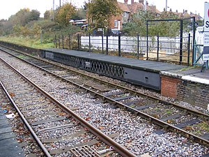 East Suffolk line - The movable platform at Halesworth Station c. 2008
