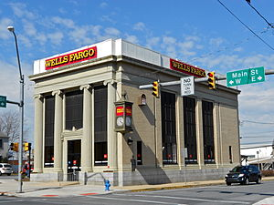 Mount Joy, Pennsylvania - Wells Fargo Bank on Main Street