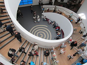 Museum of Liverpool - The centrally located spiral staircase within the museum