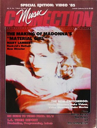 Music Connection - Image: Music Connection Magazine March 1985 Cover with Madonna