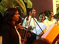 Musicians ready for the Mando stage. Konkani music. Goa. 4.jpg