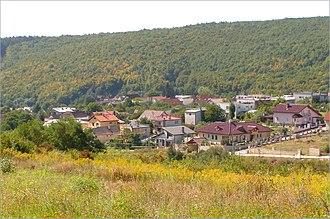 Myslava - Panorama of Myslava (August 2012)