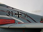 "Nörvenich Air Base Eurofighter Typhoon Luftwaffe 31+31 ""Spirit of Oswald Boelcke"" (30549969378).jpg"