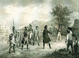 Var (department) - Napoleon arriving in Fréjus, 1799