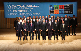 Royal Welsh College of Music & Drama - NATO Foreign Ministers' dinner held at the Dora Stoutzker Hall, in the college on 4 September 2014