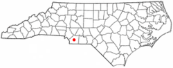 Location of Monroe, North Carolina