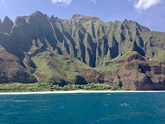 Nā Pali Coast State Park - Na Pali Coast view from a boat