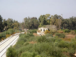 Nahal Sorek - Remains of the Nahal Sorek Railway Station