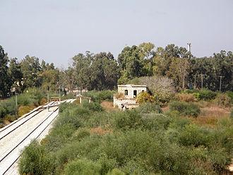 Nahal Sorek - Remains of the Nahal Sorek Railway Station