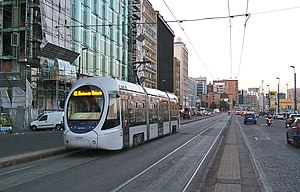 Trams in Naples - A Sirio tram in Naples.