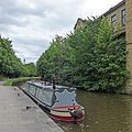 Narrowboat Harry in the Leeds and Liverpool Canal at Saltaire (28697708416).jpg