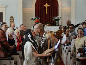 Praying Indian - Wedding ceremony of modern-day Natick (Massachusett) Praying Indians.