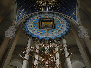 Baclaran Church - The icon enshrined above the high altar, which is covered by a ciborium.