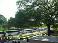 National Gallery, West Building - view of buses on the Mall.JPG