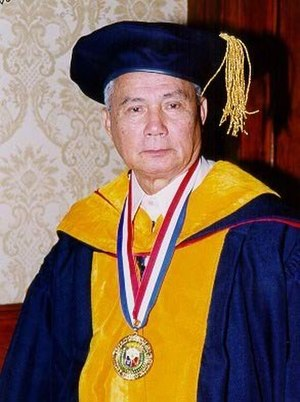 Science and technology in the Philippines - Angel Alcala is a national scientist noted for his work in marine and aquatic biology.