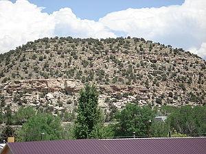 Naturita Formation - Naturita Formation exposed above Naturita in Colorado.
