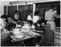 Navajo students studying mathematics at day school - NARA - 295155.tif