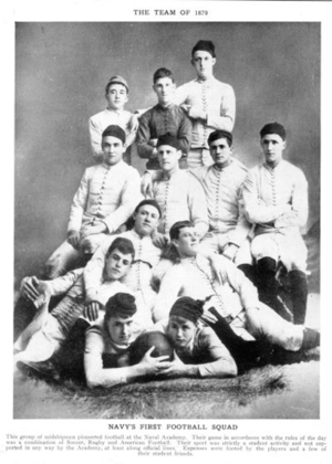 1885 Navy Midshipmen football team - Image: Naval Academy 1879 Football Team