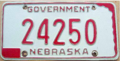 Nebraska license plate state government 1966-1978.png