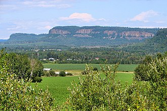 Neebing, Ontario - Rural scene of Neebing with the Nor'Wester Mountains in the background