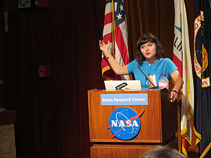 Nelly Ben Hayoun - Image: Nelly Ben Hayoun Speaking at NASA Ames Research Center