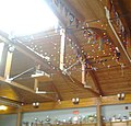 Nepean Sailing Club main lounge roof trophies and burgees.jpg