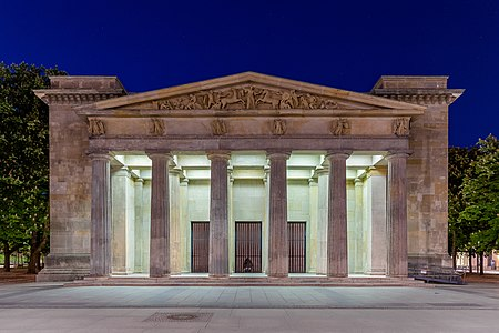 Neue Wache (New Guardhouse) in Berlin-Mitte at night.