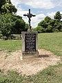 Neuville-sur-Margival (Aisne) croix de chemin, mémorial de guerre.JPG