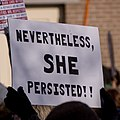 Nevertheless, she persisted!! -WomensMarch -WomensMarch2018 -SenecaFalls -NY (28029097509).jpg