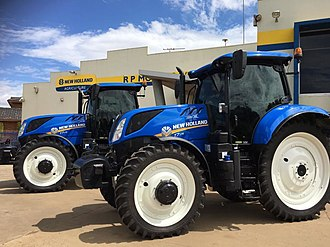 New Holland Agriculture - T7 Series Tractors, at a New Holland dealership in Australia, R.P. Motors Pty. Ltd.