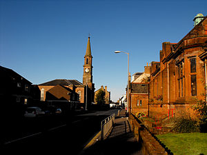 Newmilns - Loudoun Church, as viewed from the Morton Hall.