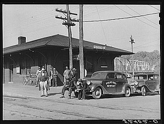 Newport, Tennessee - Newport Depot, photographed by Marion Post Wolcott in 1939