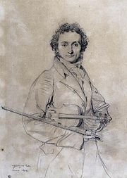 Portrait de Niccolò Paganini (1819) par Dominique Ingres