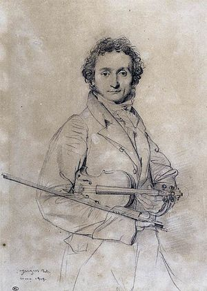 Niccolò Paganini - Niccolò Paganini (1819), by Jean-Auguste-Dominique Ingres