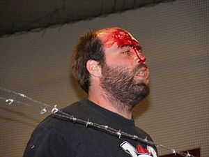Nick Gage - Nick Gage after a match in 2010