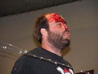 CZW Hall of Fame - Image: Nick Gage bleeds