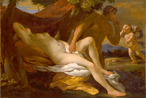 Nicolas Poussin 'Jupiter and Antiope' or 'Venus and Satyr'