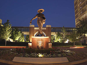 University of Oklahoma College of Medicine - Seed Sower at Night at OU Health Sciences Center