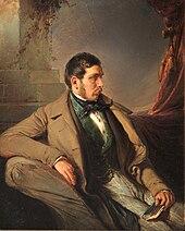 Nikolaus Lenau, gemalt von Johann Umlauf, ca. 1844 (Quelle: Wikimedia)