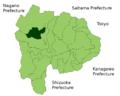 Nirasaki in Yamanashi Prefecture.png